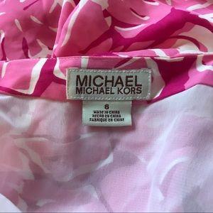MICHAEL Michael Kors Skirts - MICHAEL KORS 100% silk tropical fringe wrap skirt